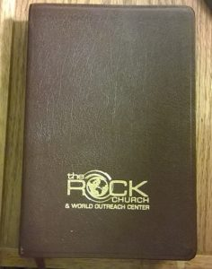 Embossed Bible cover